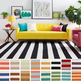 Melun Flatweave 100-percent Wool Striped Area Rug (5' x 8')