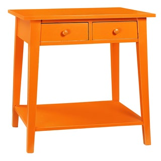 Orange coffee sofa end tables overstock shopping for Orange outdoor side table