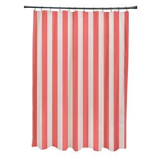 71 x 74-inch Latte Striped Shower Curtain