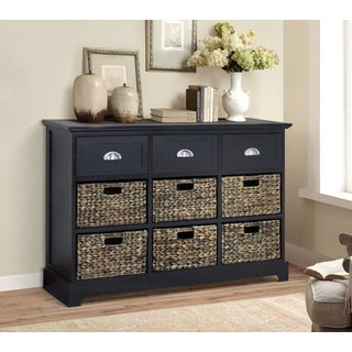 Gallerie Decor Newport 3-drawer 6-basket Table