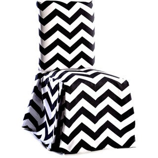 Chevron Cotton Dining Chair Slipcover Pair