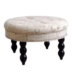 Old World Round Signature Ottoman