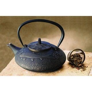 Black and Copper Koi 38-ounce Teapot