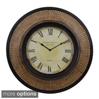 Pattern Framed Antique Style Wall Clock