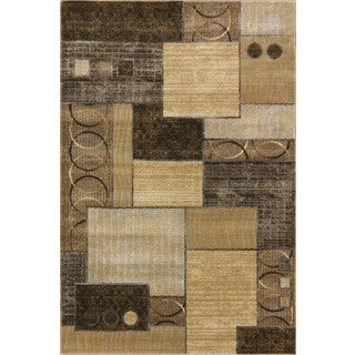Christopher Knight Home Providence Terrain Decker Cocoa/ Gold Area Rug (5' x 7'6)