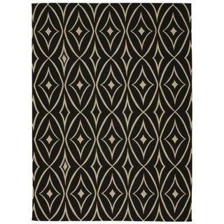 Waverly Color Motion by Nourison Black Area Rug (5' x 7')