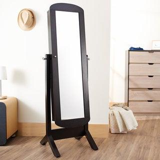 Furniture of America Carina Cappuccino Hallway Mirror