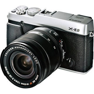 Fujifilm X-E2 Mirrorless Digital Camera with 18-55mm Lens Silver