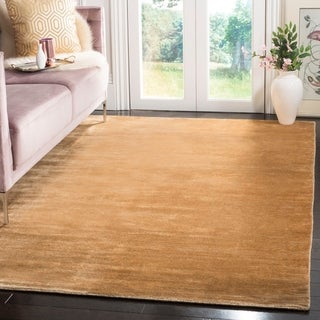 Safavieh Hand-knotted Mirage Gold Wool/ Viscose Rug (9' x 12')