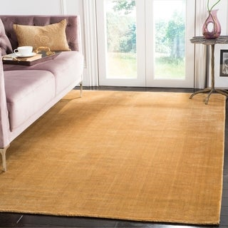 Safavieh Hand-knotted Mirage Old Gold Wool/ Viscose Rug (9' x 12')