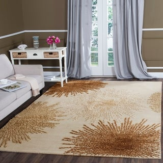 Safavieh Handmade Soho Beige New Zealand Wool Rug (9' x 12')