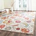 Safavieh Indoor/ Outdoor Four Seasons Ivory/ Grey Rug (5' x 7')