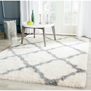 Safavieh Montreal Shag Ivory/ Grey / Polyester Rug (5'3 x 7'6)