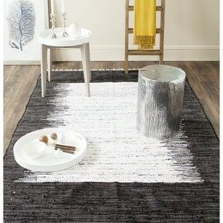 Safavieh Hand-woven Montauk Ivory/ Black Cotton Rug (9' x 12')