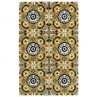 Hand-tufted de Leon Yellow Rug (9' x 12')