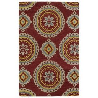 Hand-tufted de Leon Red Rug (9' x 12')