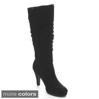 Forever Women's 'Lotus-18' Slouchy Knee-high Boots