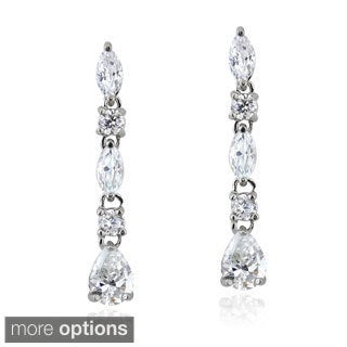 Icz Stonez Sterling Silver 2 4/5ct TGW Cubic Zirconia Dangle Earrings
