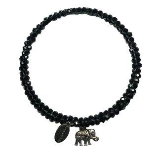 Pink Box Black Forest Wrap Around Bracelet with Elephant Charm
