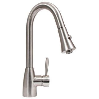 Dyconn Faucet Platinum Series Gila - Contemporary/Modern Brushed Nickel Pull Out Kitchen Faucet