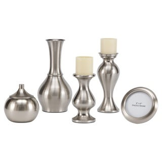 Signature Designs by Ashley 'Rishona' Brushed Silver 5-piece Accessory Set