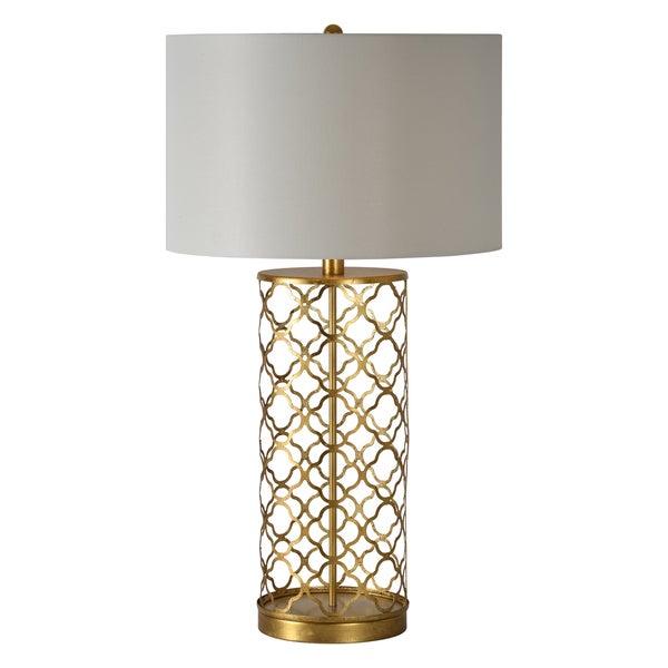 stardust single light gold leaf table lamp overstock shopping. Black Bedroom Furniture Sets. Home Design Ideas
