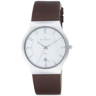 Skagen 233XXLSL Grenen Men's Leather Watch