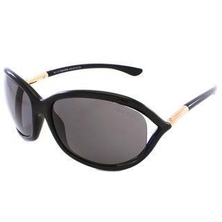 Tom Ford Women's 'TF8 Jennifer 01D' Shiny Black Polarized Sunglasses
