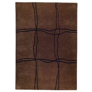 Hand Tufted Amst Brown (5'6 x 7'10) Rug