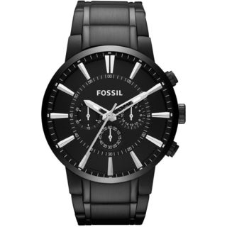 Fossil Men's FS4778 Black Stainless-Steel Analog Quartz Watch with Black Dial