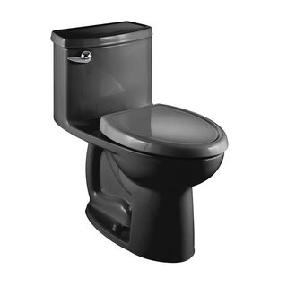 American Standard Black Compact Cadet 3 Flowise 1-piece Toilet