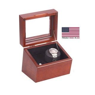 The Brigadier American Cherry Hardwood Single Watch Winder