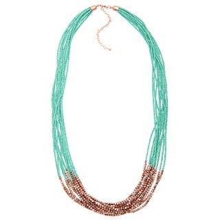 Alexa Starr Long Mutli-strand Seed Bead Necklace