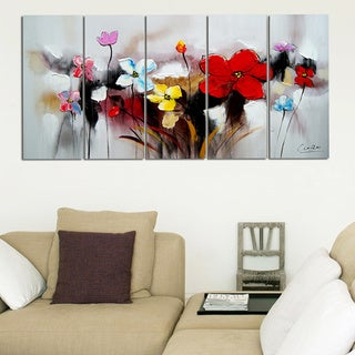 Blooming Through- Highly Textured Canvas Painting'Blooming Through' Highly Textured Canvas Painting