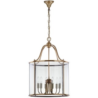 Safavieh Indoor 6-light Sutton Place Large Brass Pendant