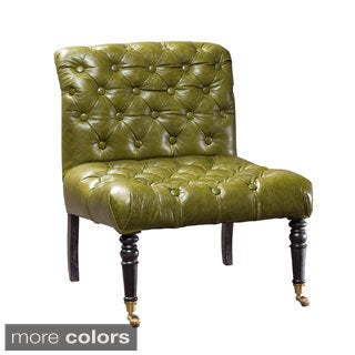 Colvin Button-tufted Leather Chair (India)