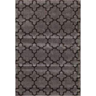 Christopher Knight Home Medina Chroma Holden Silver/ Black Area Rug (7'10 x 9'10)