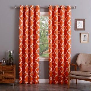 Aurora Home Moroccan Tile 96-inch Window Curtain Pair