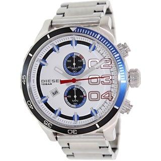 Diesel Men's Double Down 48 DZ4313 Stainless Steel Quartz Watch with White Dial