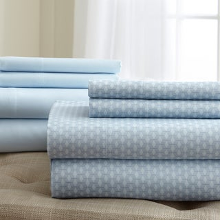 Printed and Solid 8-piece Sheet Set