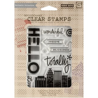 Basic Grey Second City Clear Stamps By Hero Arts-Totally