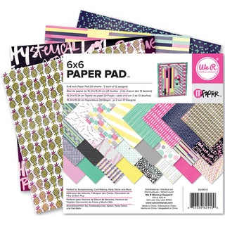 "We R Memory Keepers Paper Pad 6""X6"" 24/Pkg-It Factor"