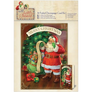 Papermania Letter To Santa A5 Decoupage Card Kit-Foiled Santa's List