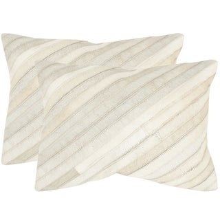 Safavieh Cherilyn White 14 x 20-inch Throw Pillows (Set of 2)