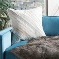 Safavieh Cherilyn White 22-inch Square Throw Pillows (Set of 2)