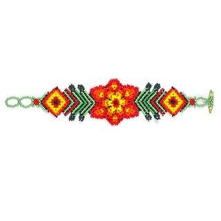 Hand-beaded Spring Flower Bracelet (Guatemala)