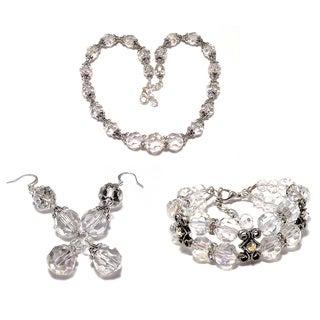 Clear Crystal 18-inch Wedding Jewelry Set