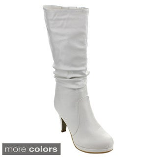 Top Moda Page-43 Women's Knee-high Slouched Boots