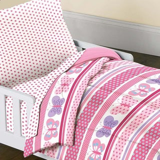 Butterfly Dots 4-piece Toddler Bedding Set