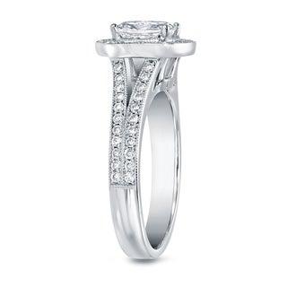 Auriya 14k White Gold 2ct TDW Cushion-cut Diamond Ring (F-G, VS1-VS2)
